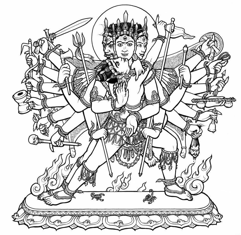 Free Hindu God And Goddess Coloring Pages Hinduism Coloring Pages